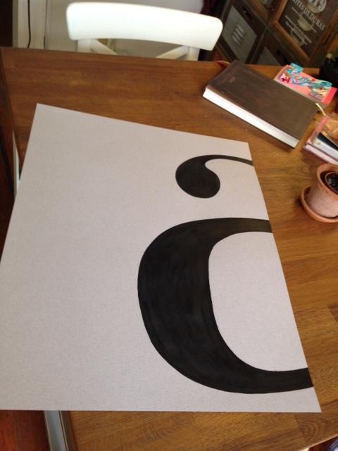 trabajos desde casa lámina tipográfica