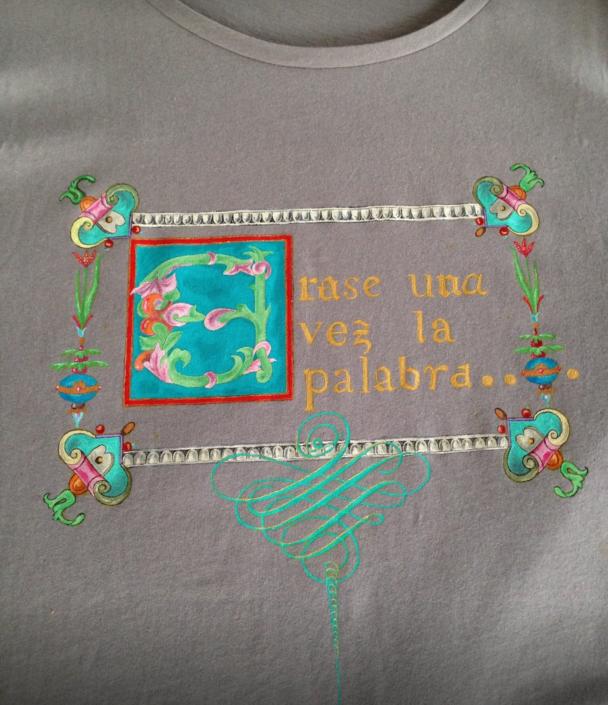 Camisetas personalizadas con Poemas escritos a mano por el Taller de Proyectos creativos asiDeCool.