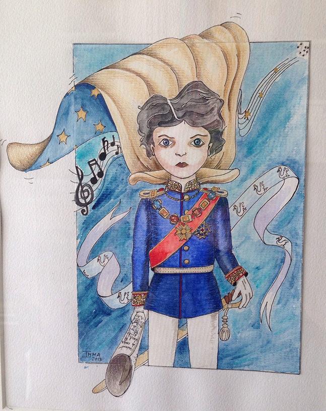 Ilustración del personaje del cuento El Rey Cisne. Constructor de sueños