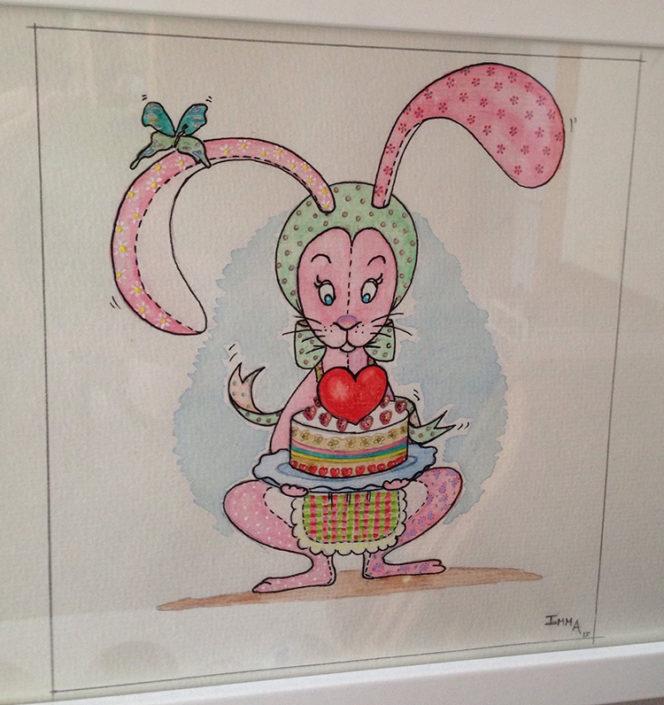 Ilustración personaje protagonista del cuento Alma y su pastel de la felicidad