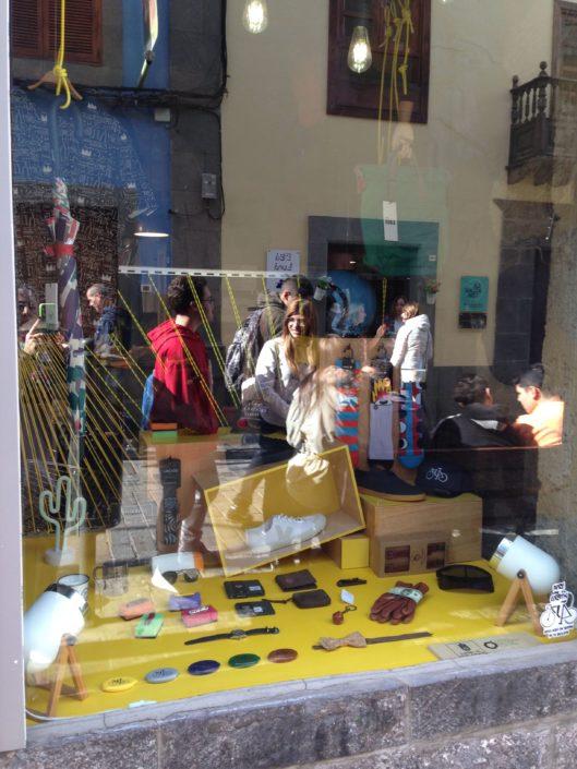 Proyecto de escaparatísmo de asideCool en Las Palmas de Gran Canaria