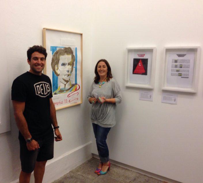 Exposición del Proyecto de poemas componiendo un cuadro realizado por el Taller de Proyecto creativo asiDeCool