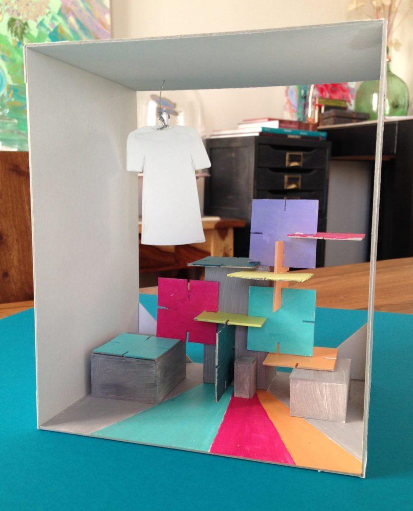 Proyecto maqueta escaparate realizado por el Taller de Proyectos creativos asiDeCool