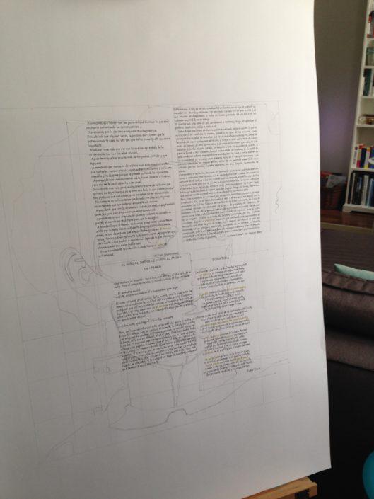 Proyecto de poemas componiendo un cuadro realizado por el Taller de Proyecto creativo asiDeCool