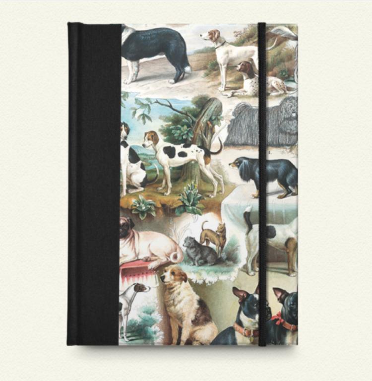 Cuaderno lomo de tela Perros