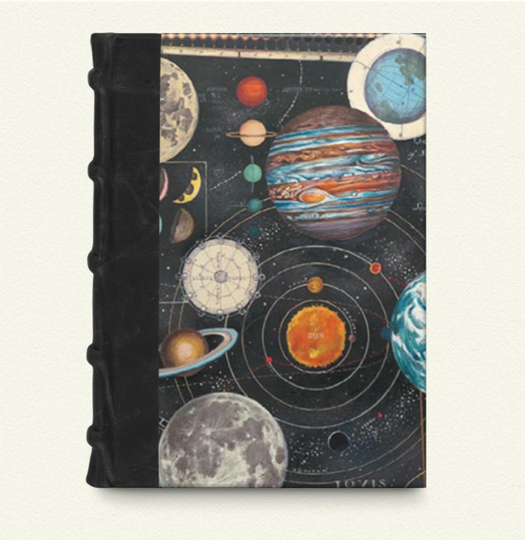 Cuaderno de lomo de piel 15x22 Planetarium