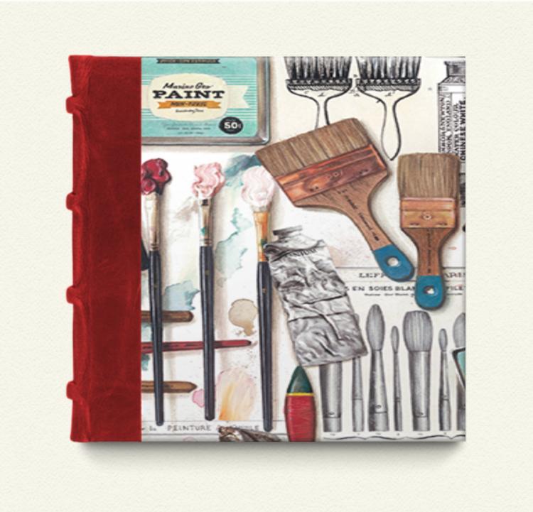 Cuaderno con lomo de piel 15x15 Atelier