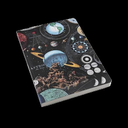 Cuaderno de tapa blanda 12x168 planetarium
