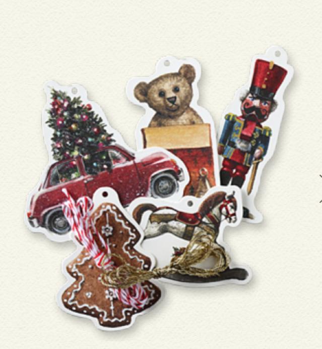Tarjetas de regalo de Navidad perforadas