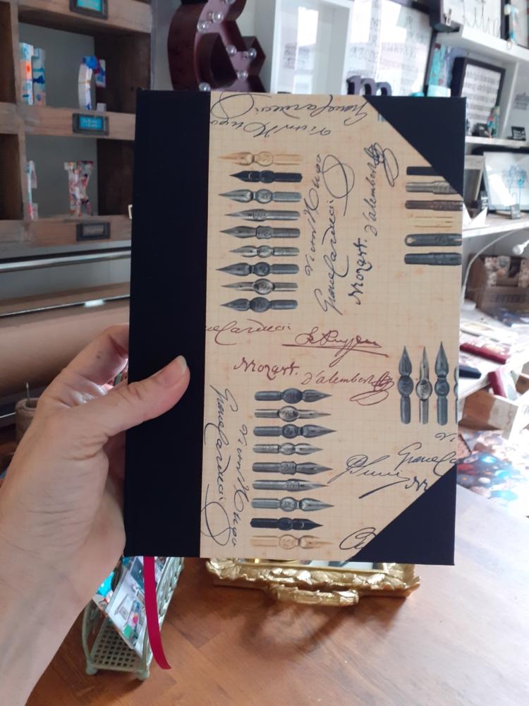 Cuaderno Plumillas con puntas edicion limitada escritores ecuadernacion artesana