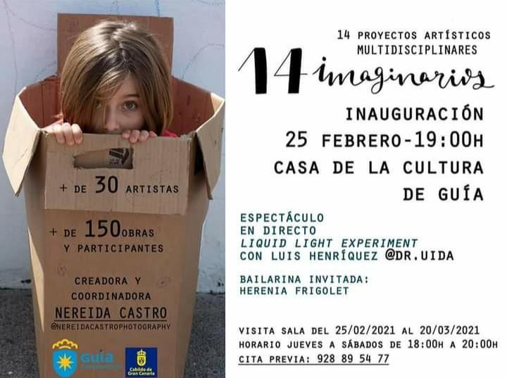 Cartel de la exposición  14 imaginarios