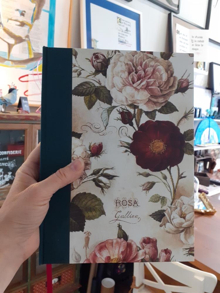 Cuaderno artesano rosas
